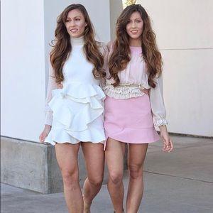 Chicwish Light pink mini dress